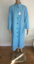 NEW Boxed Vintage 1950s 1960s Blue Lanfield Housecoat Dress Coat Size 12 BNWT