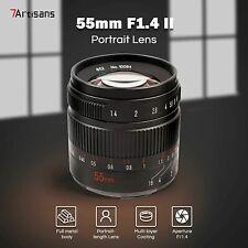 7artisans 55mm F1.4 II Manual Prime Lens for Fuji Fujifilm X XF X-Mount Camera