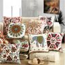 Vintage Tapestry Embroidered Cotton Linen Throw Pillow Case Cushion Cover Decor