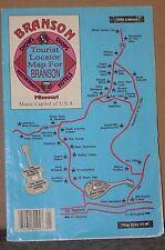 1994 Tourist Locator Map for Branson Missouri