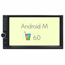 "Android 6.0 Double DIN 7"" LCD TFT Car Stereo GPS Bluetooth Touch Screen No-DVD I"