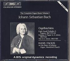 J.S. Bach - Hans Fagius: The Complete Organ Music, Vol. 3 (2 CDs, BIS) Like New