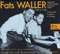 FATS WALLER - THE COMPLETE RECORDED WORKS VOL.5 4 CD NEW+