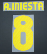 10/11-Barcelone Home Nameset; A. Iniesta 8 = Taille Junior