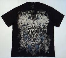 Glaucus Mens 2XL T Shirt Greek Mythology Sea god Knights Armour Wings Metallic