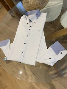 Armani Jeans Mens Cotton Double Collar Shirt