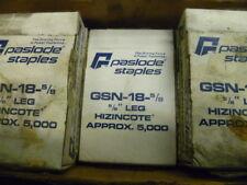 new genuine Paslode GSN-18 5/8 leg HINZINCOTE Staples 5000 count ct pastlode gun