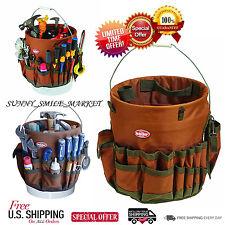 Tool Organizer Multi Pocket 5 Gal Carpenter Electrician Bucket Tools Storage Bag