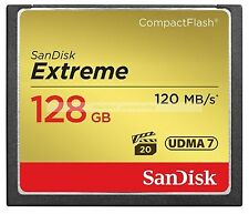 SanDisk CompactFlash 128GB 128G Extreme 800X 120MB/SEC CF Flash Memory Card New