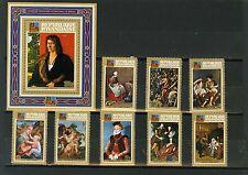 Rwanda 1973 Sc#523-531 tableaux Ensemble de 8 timbres & S/S MNH