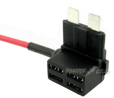 Standard  ATC/ATO Blade Fuse TAP Dual Circuit Adapter 16 AWG Wire /15 Amp