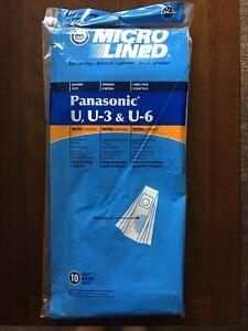DVC 10 Vacuum Bags MicroLined Brand Panasonic U, U-3 & U-6