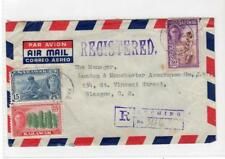 SARAWAK: 1954 registered airmail cover to Scotland (C31060)