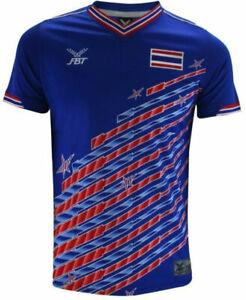 Original Thailand National Team Thai Football Soccer Jersey Shirt Retro Blue