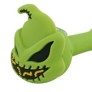 The Night Before Christmas Oogie Boogie Green Silicone Glass Smoking Pipe