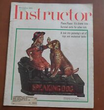 December 1973, INSTRUCTOR Magazine, Cover Photo: Speaking Dog Bank, 94 pages