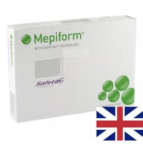 New Mepiform Soft Silcone Flexible Scar Dressing 5cm x 7cm x 5 Sheets