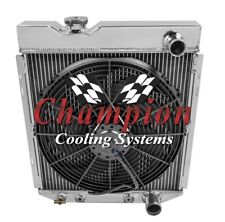"2 Row Super Champion Radiator W/ 16"" Fan for 1964 65 1966 Ford Mustang V8 Engine"