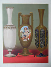 Russian Enamelled Glassware  International Exhibition 1862. Chromolithograph
