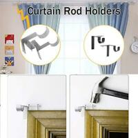 2 X Single Hang Curtain Rod Holders Bracket Window Frame Curtain Rod Bracket