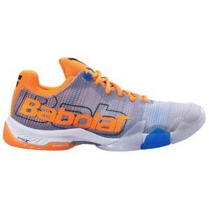 Babolat Jet Premura Matryx Paddle Shoes Men's US6.5 Eu 39 UK 6 Silver Orange NEW