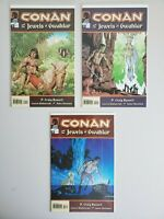 Conan And The Jewels Of Gwahlur 1 2 3 Dark Horse Set Series Run Lot 1-3 VF/NM