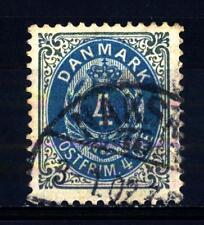 DENMARK - DANIMARCA - 1875-1903 - Cifra e stemma in doppio ovale