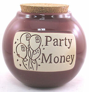 """Celebrations Birthdays Special Occasions Money Jar """"Party Money"""" Word Bank Gift"""