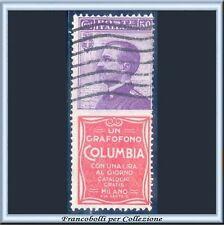 1924 Italia Regno Pubblicitari cent. 50 Columbia n. 11 Usato