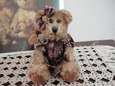 Wax Sitting Girl Teddy Bear Unique 6.5 inch Ornament
