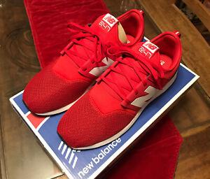 NEW BALANCE 247 MENS 12 MRL247RW Red & White LIFESTYLE Classic Pack Sneaker LFC