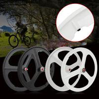 Fixed Gear 700c Tri Spoke Rim Front Rear Single Speed Fixie Bicycle Wheel Set
