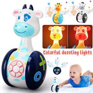 Baby Rattle Toys Tumbler Kids Infant Cartoon Toddler Crawl Musical Education Toy