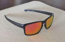 New Oakley Sliver XL Sunglasses Matte Black / Custom Polarized Ruby Iridium Lens