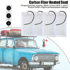 Universal Carbon Fiber Car Seat Heater Kits 4 Pads Heating Warmer Heated Cushion