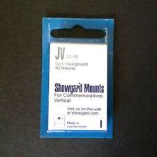 Showgard Stamp Mounts Size JV 25/40 BLACK Background Package of 40