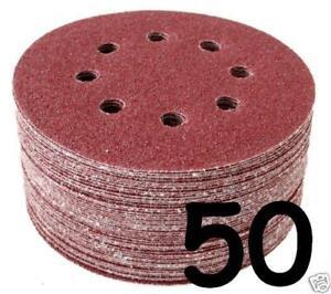 125mm - 5 inch - Sanding Discs 40 60 80 100 120 180 240 320 400 800 Grit