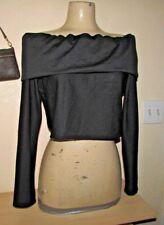 NICKI MINAJ CROP TOP OFF SHOULDER LONG SLEEVE Black WOMEN'S SIZE XL NEW w/Tags
