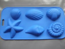 Silicone Mould 6 Seashell Ocean Shapes, Shell, Starfish, Seaside Chocolate Tray