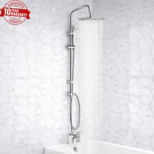Modern Bath Shower Mixer Waterfall Tap With 3 Way Square Rigid Riser Rail Kit