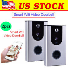 2x Wireless Bluetooth WiFi Smart DoorBell Home 2-Way HD Video Door Home Monitor
