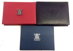 UK Proof Set Deluxe Covers Only Black Red Blue leather Royal Mint Case (D)