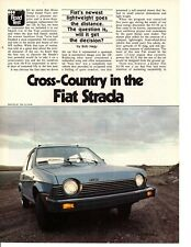 1979 FIAT STRADA ~ ORIGINAL 3-PAGE ROAD TEST / ARTICLE / AD