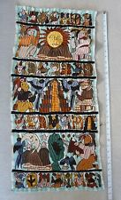 """Hand Embroidered Mayan Images from Santiago Atitlan Guatemala (15"""" by 32"""")"""