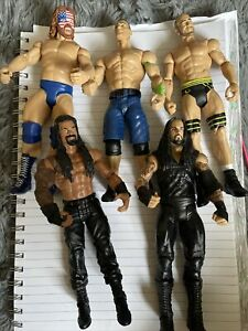"WWE Figure Bundle. 5x 7"" Wrestling Figures"