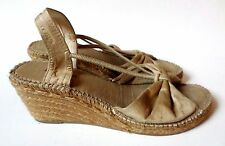 Toni Pons Espadrille Slingback Wedge Sandals Tan 40 9.5