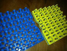 12 - CHICKEN or GUINEA EGG TRAYS for Incubator, Storage, Cleaning. Holds 30 eggs