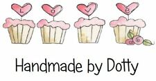 Personalised Mini Stickers labels x 65 - Handmade by - Row of Love cupcakes
