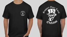 2 sided Support your local Outlaws Biker Motorcycle MC 15 t shirt outlaw Gun