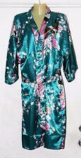 """PEACOCK"" Japanese Women's Silk Kimono Robe BY SINGAPORE DYNASTY BRIDESMAID"